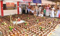 Sahasra Kalasa Pooja performed on 16th